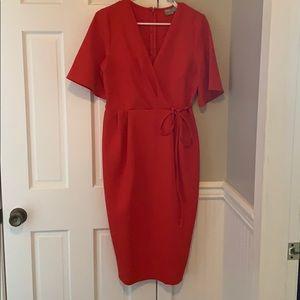 Red Asos knee length dress